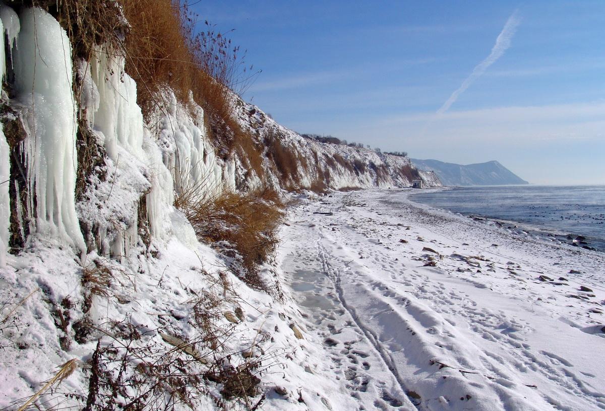 Зима на курорте Анапа