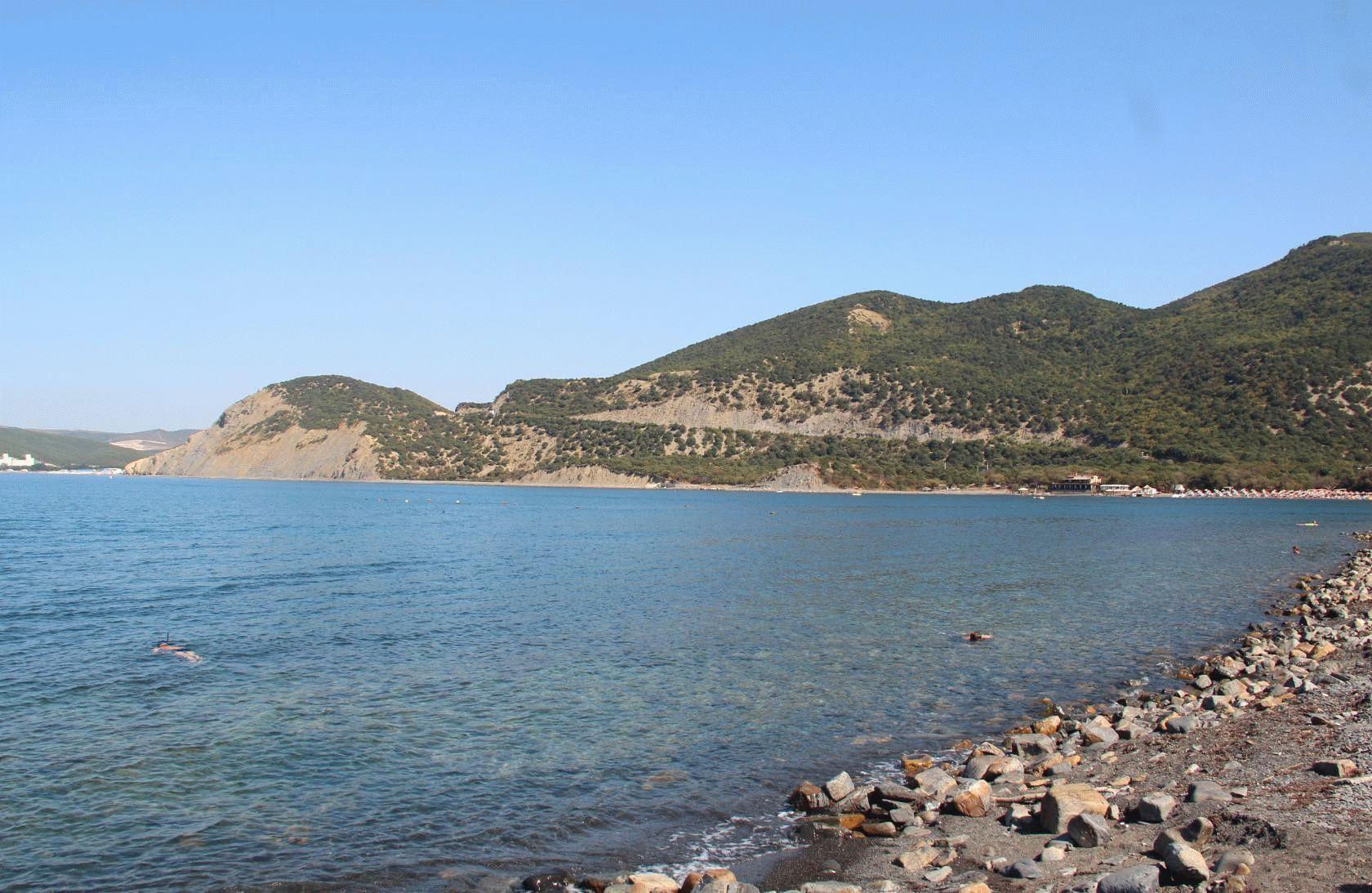 Пляж на Большом Утрише