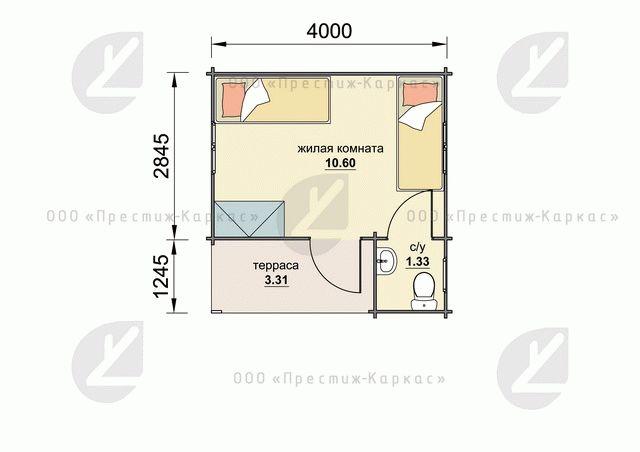 План дома из минибруса