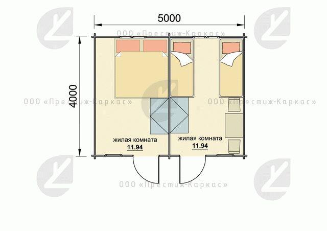 Планировка дома из мини-бруса