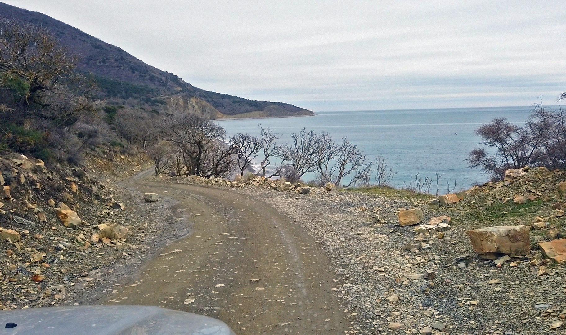 Дорога на Малый Утриш