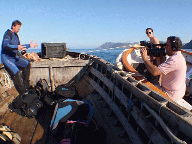 Съемка программы о мидиях Черного моря