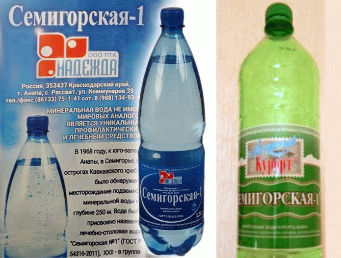 Минеральная вода Семигорская 1