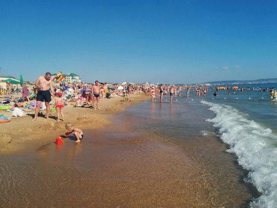 Море на курорте Анапа