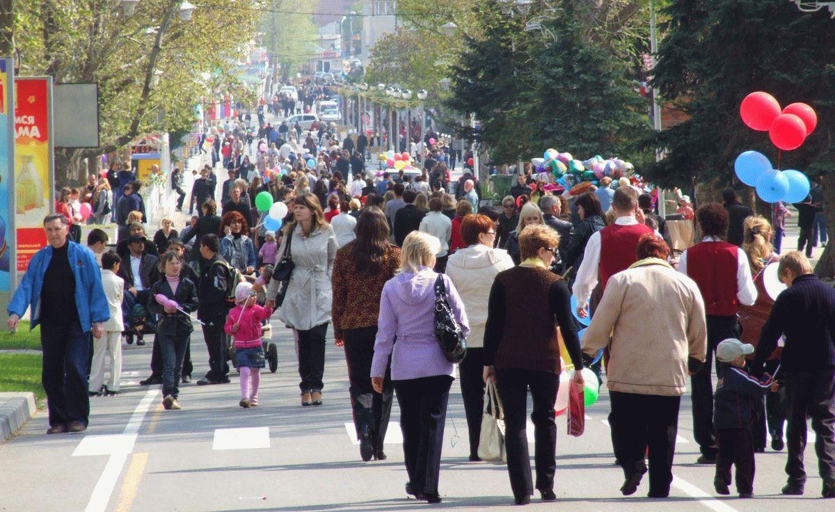 Праздничные гуляния в Анапе