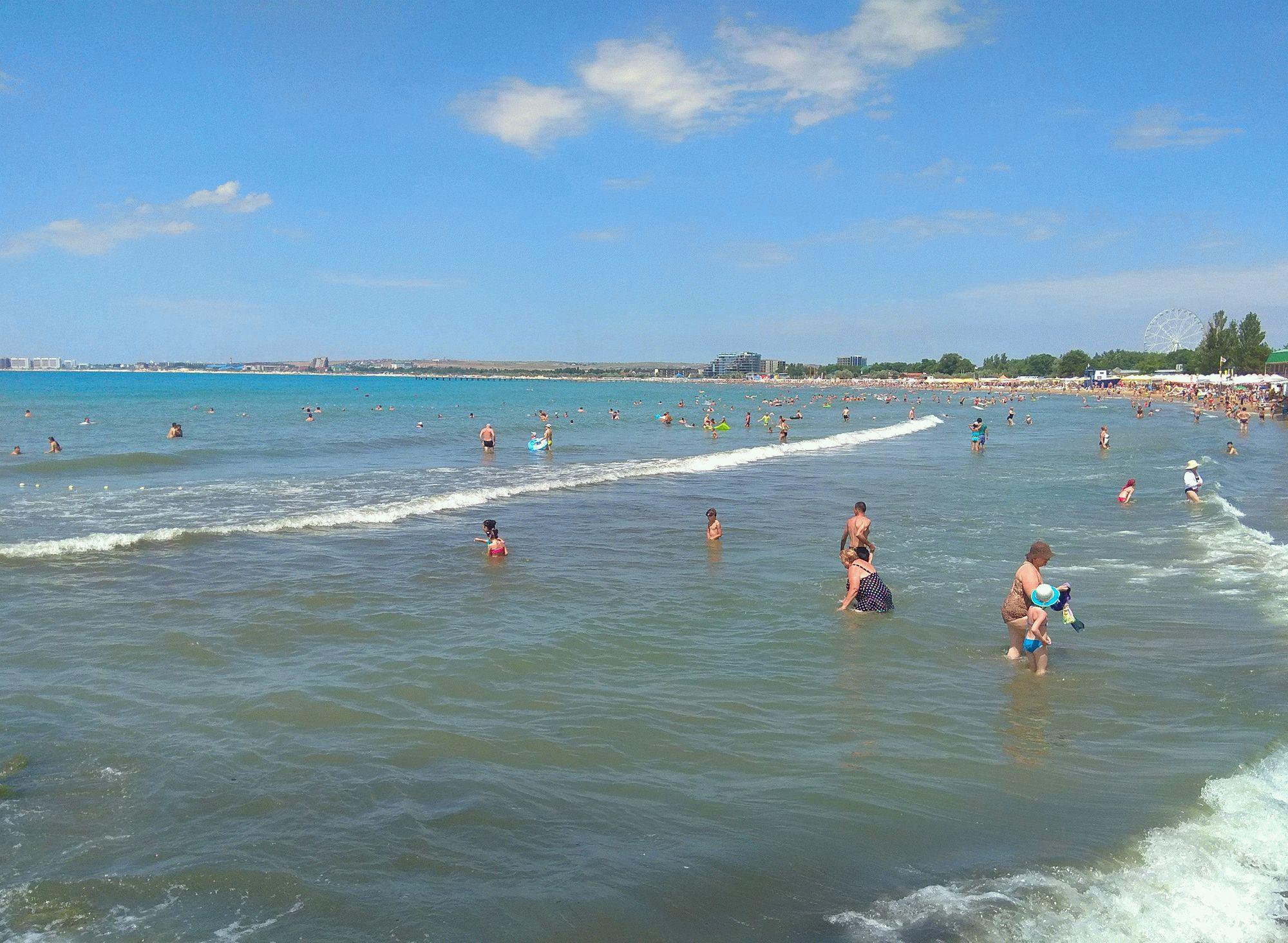 Море в Анапе в июле