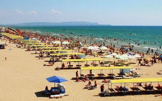 Пляжи поселка Витязево