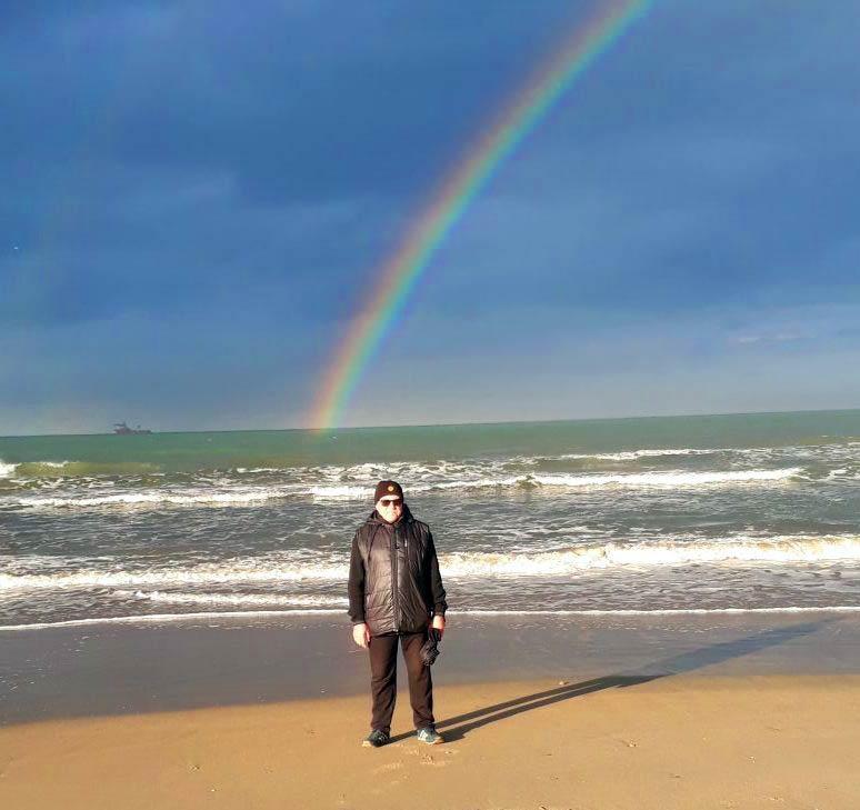 Зимняя радуга над Анапой