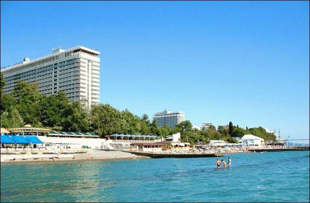Море курорта Сочи