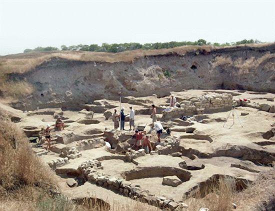 Остатки древнейшего города Шакрак