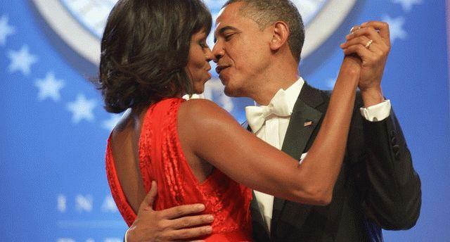 Танец Барака Обамы с супругой