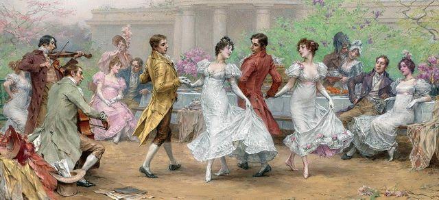Танцы во времена Людовика четырнадцатого