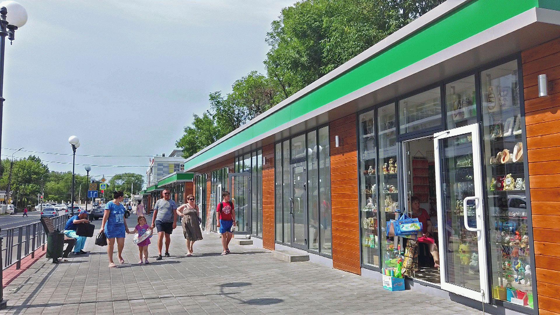 Магазинчики на Красноармкйской