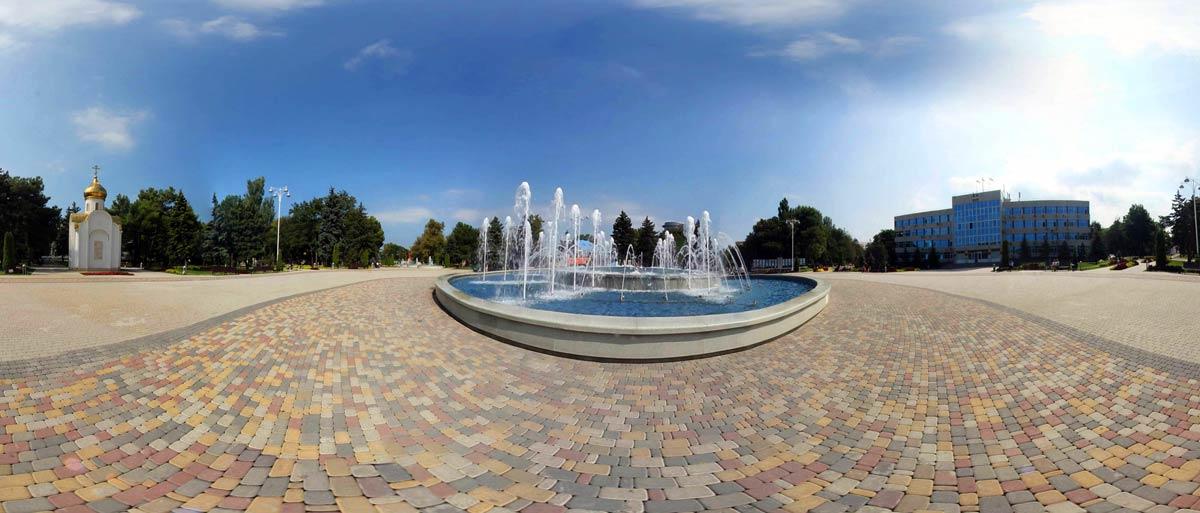 Видео 360° фонтана в Анапе