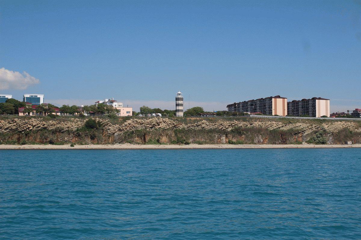 Вид на Высокий берег с море