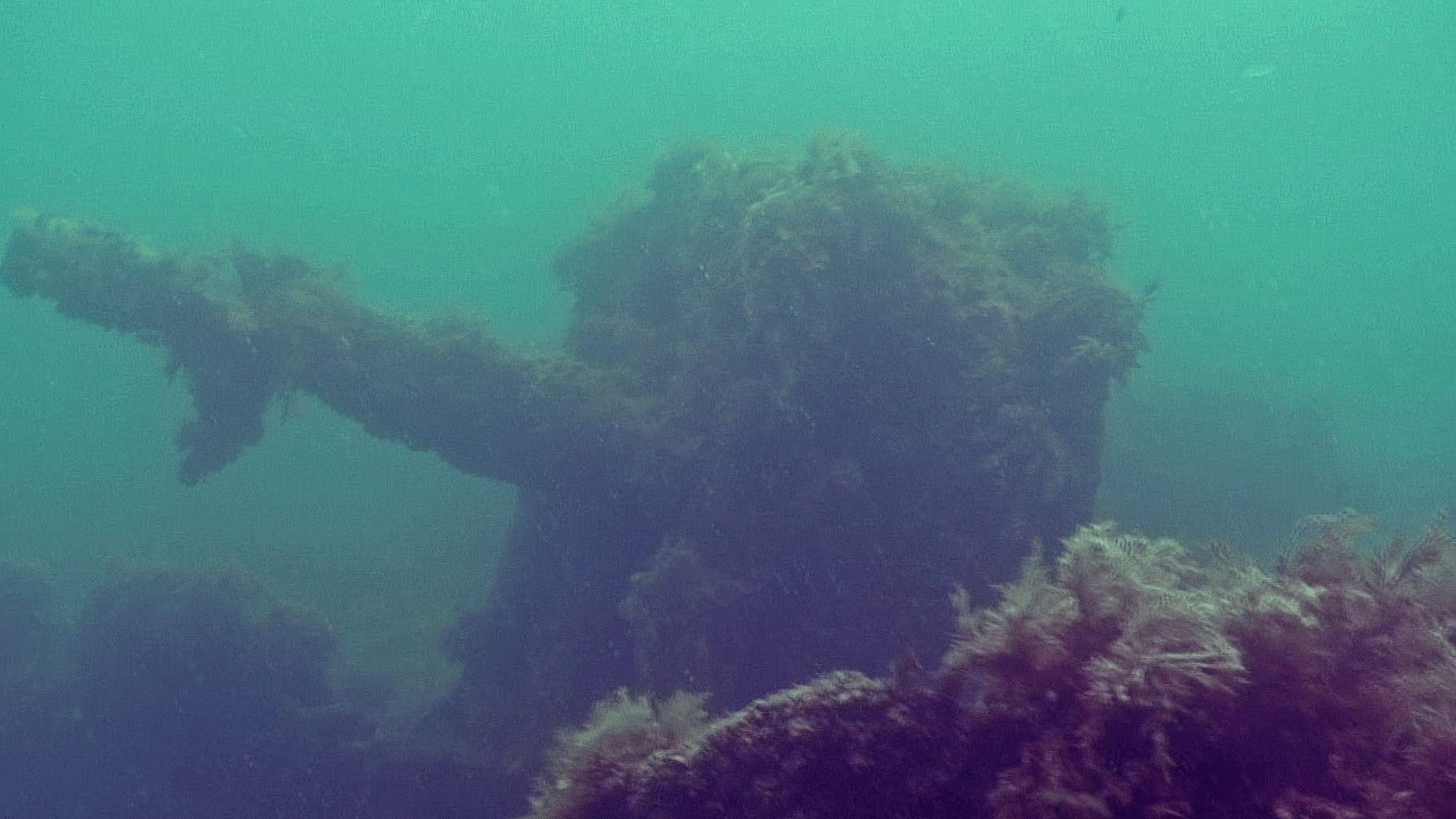 Фото затонувшего корабля в Витязево