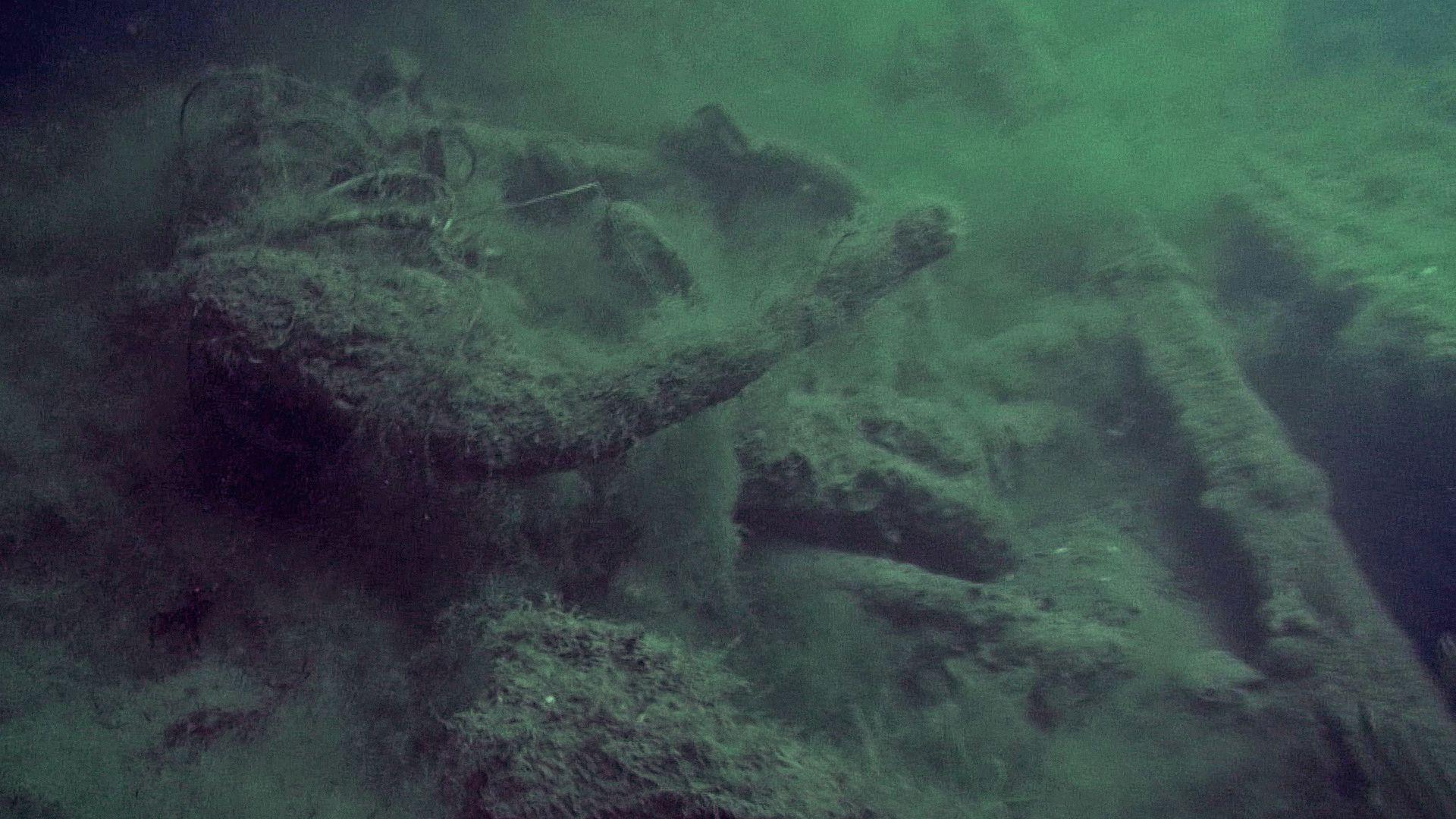 Затонувшее судно в Витязево