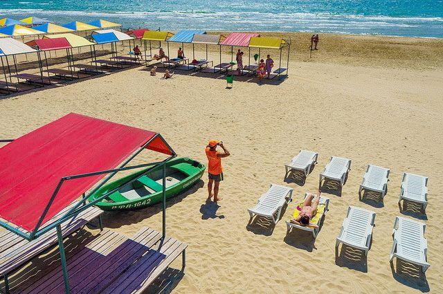 Пляж санатория в Анапе