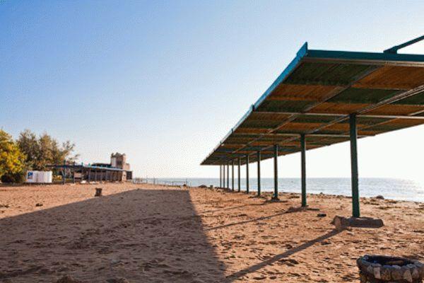 Пляж санатория Дружба в Евпатории