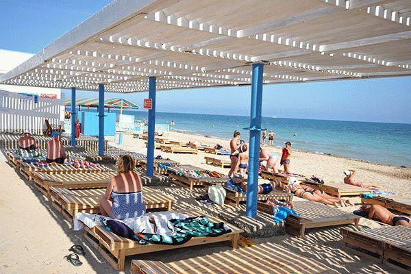 Пляж санатория Мечта в Евпатории