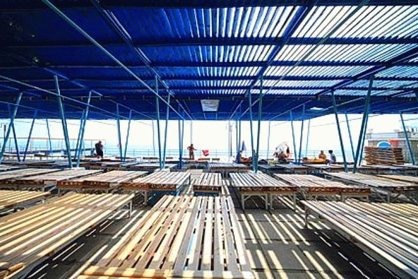 Пляж санатория Родина в Ялте