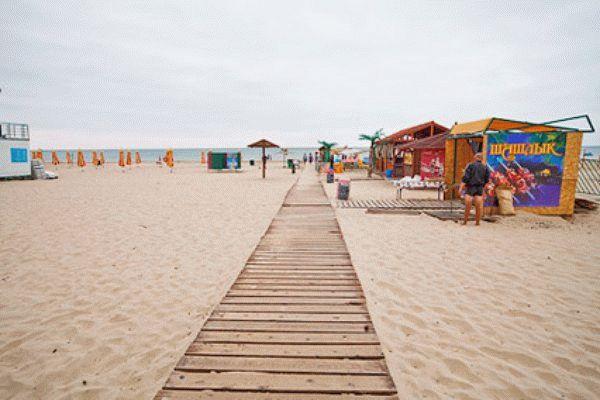 Пляж пансионата Фея-2 в Анапе