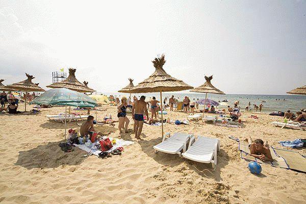 Пляж пансионата Фея-1 в Анапе